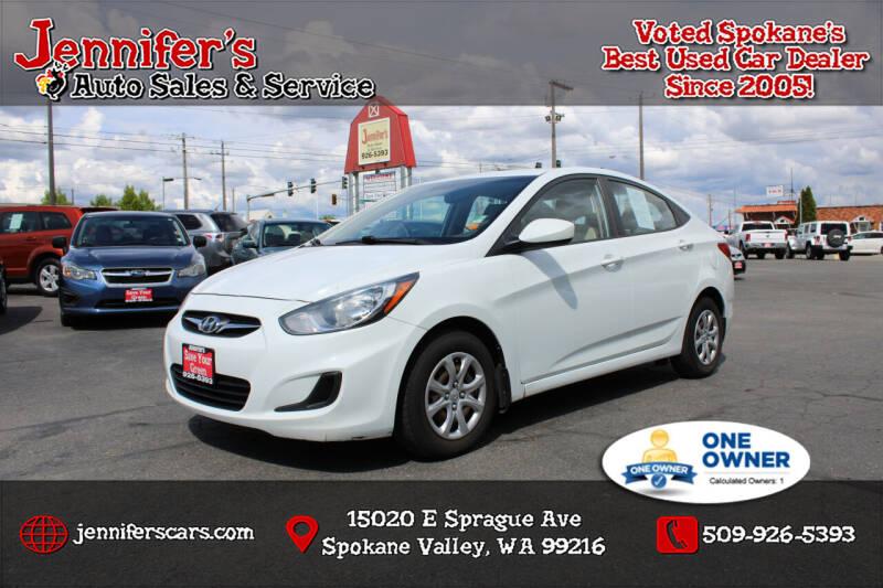 2012 Hyundai Accent for sale at Jennifer's Auto Sales in Spokane Valley WA