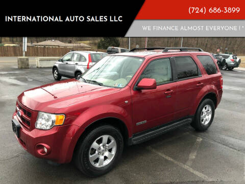 2008 Ford Escape for sale at INTERNATIONAL AUTO SALES LLC in Latrobe PA