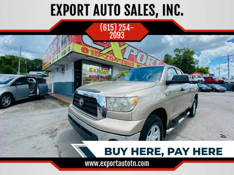 2008 Toyota Tundra for sale at EXPORT AUTO SALES, INC. in Nashville TN