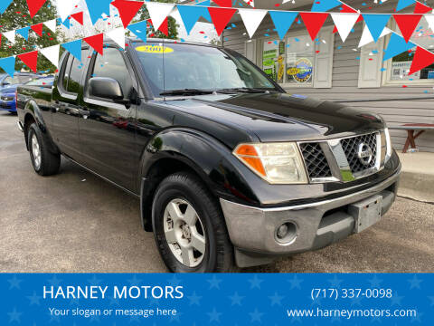 2007 Nissan Frontier for sale at HARNEY MOTORS in Gettysburg PA