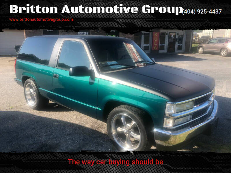 1998 Chevrolet Tahoe for sale at Britton Automotive Group in Loganville GA