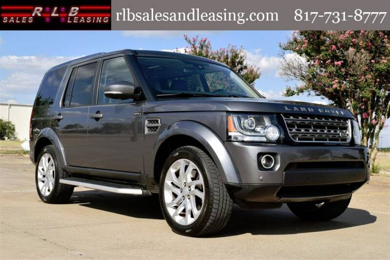 2016 Land Rover LR4 for sale at RLB Sales and Leasing in Fort Worth TX