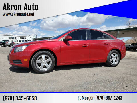2012 Chevrolet Cruze for sale at Akron Auto in Akron CO