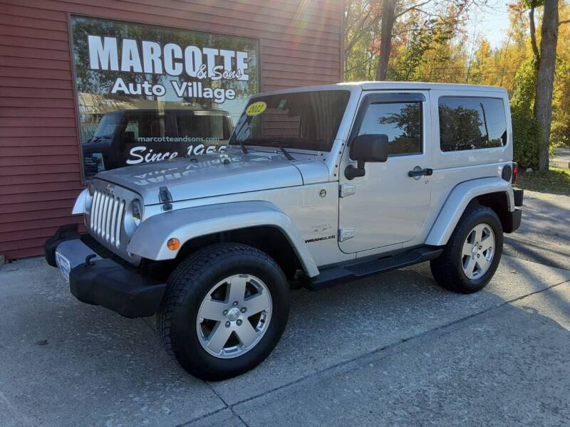 2012 Jeep Wrangler for sale at Marcotte & Sons Auto Village in North Ferrisburgh VT