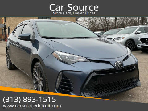 2017 Toyota Corolla for sale at Car Source in Detroit MI