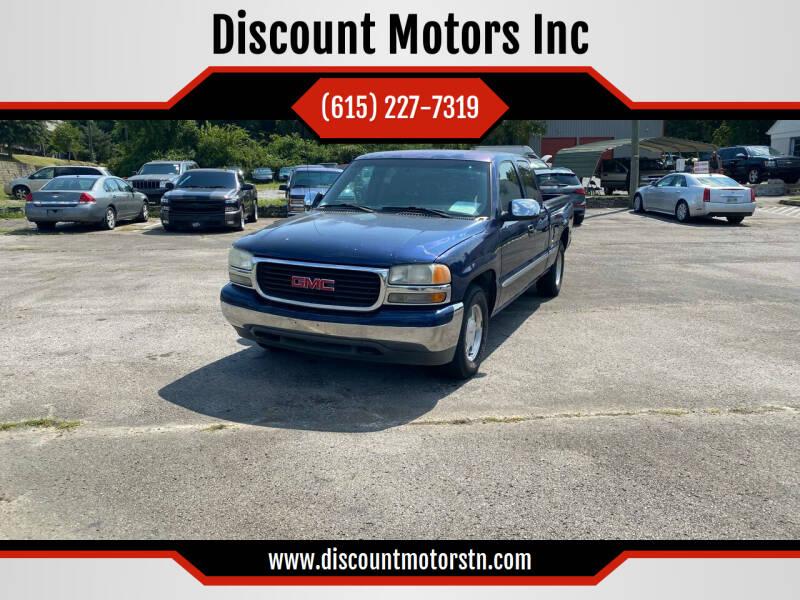 2001 GMC Sierra 1500 for sale at Discount Motors Inc in Nashville TN