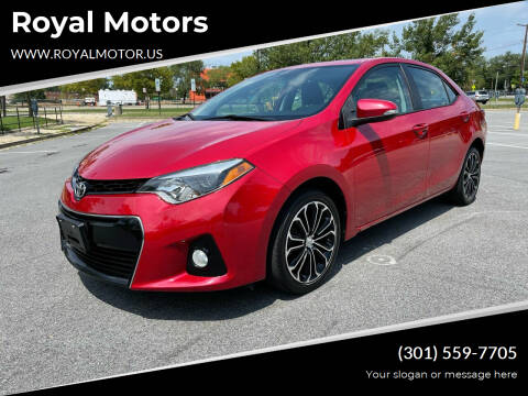 2016 Toyota Corolla for sale at Royal Motors in Hyattsville MD