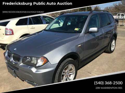 2006 BMW X3 for sale at FPAA in Fredericksburg VA