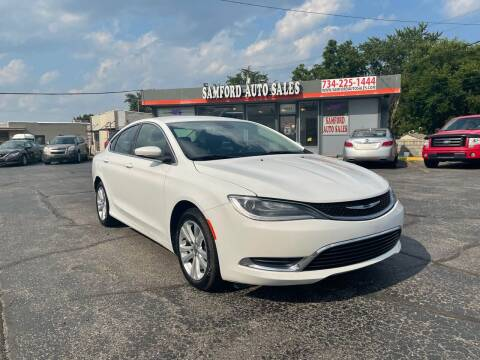 2015 Chrysler 200 for sale at Samford Auto Sales in Riverview MI