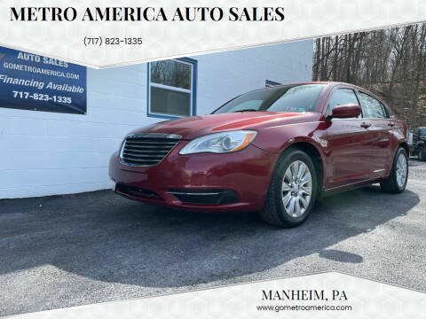 2013 Chrysler 200 for sale at METRO AMERICA AUTO SALES of Manheim in Manheim PA