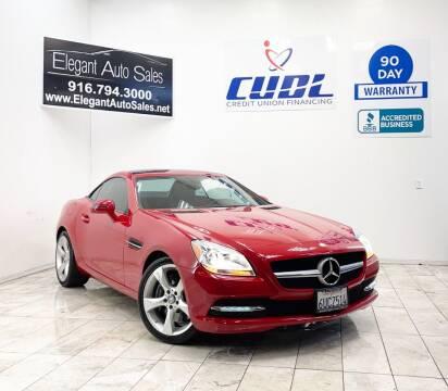 2012 Mercedes-Benz SLK for sale at Elegant Auto Sales in Rancho Cordova CA