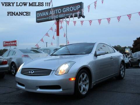 2007 Infiniti G35 for sale at Divan Auto Group in Feasterville PA