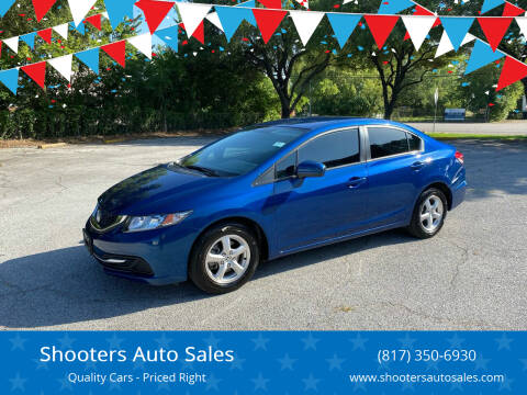 2014 Honda Civic for sale at Shooters Auto Sales in Fort Worth TX