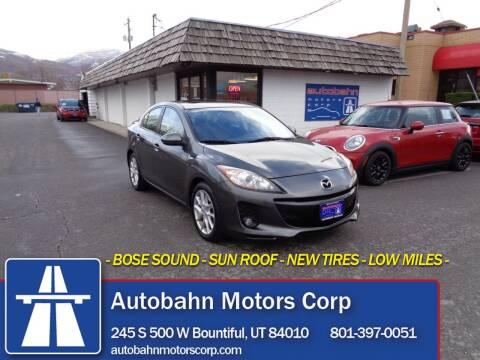 2012 Mazda MAZDA3 for sale at Autobahn Motors Corp in Bountiful UT
