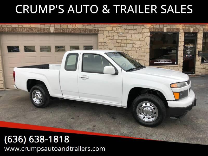 2011 Chevrolet Colorado for sale at CRUMP'S AUTO & TRAILER SALES in Crystal City MO