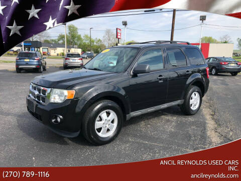 2012 Ford Escape for sale at Ancil Reynolds Used Cars Inc. in Campbellsville KY