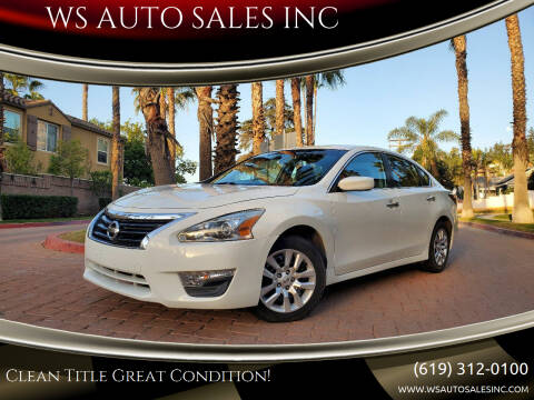 2014 Nissan Altima for sale at WS AUTO SALES INC in El Cajon CA