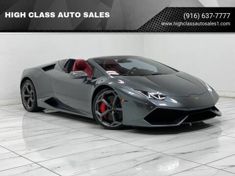 2016 Lamborghini Huracan for sale at HIGH CLASS AUTO SALES in Rancho Cordova CA