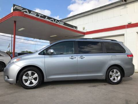 2014 Toyota Sienna for sale at FAST LANE AUTO SALES in San Antonio TX
