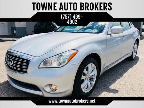 2011 Infiniti M37 for sale at TOWNE AUTO BROKERS in Virginia Beach VA