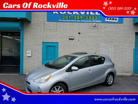 2012 Toyota Prius c for sale at Cars Of Rockville in Rockville MD