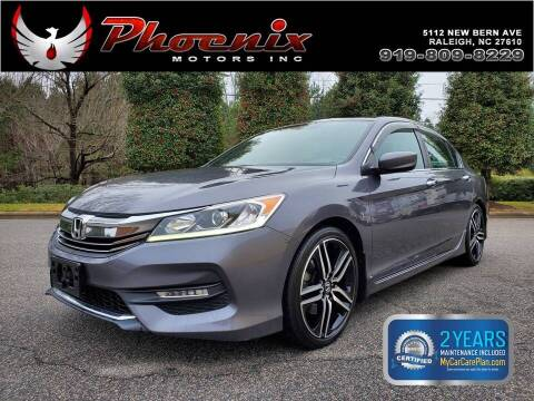2017 Honda Accord for sale at Phoenix Motors Inc in Raleigh NC