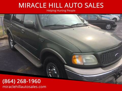 2001 Ford Expedition for sale at MIRACLE HILL AUTO SALES in Greenville SC