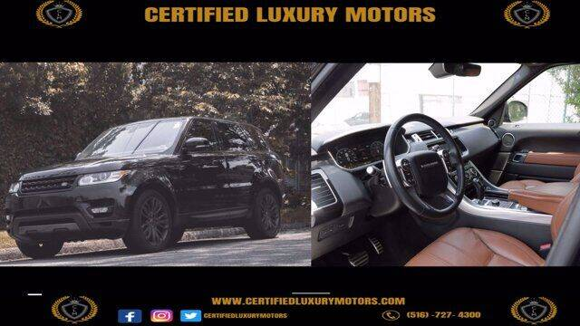 2017 Land Rover Range Rover Sport for sale at CERTIFIED LUXURY MOTORS OF QUEENS in Elmhurst NY