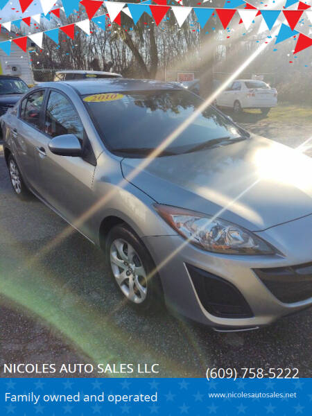 2010 Mazda MAZDA3 for sale at NICOLES AUTO SALES LLC in Cream Ridge NJ