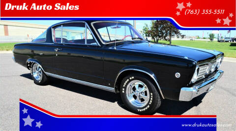 1966 Plymouth Barracuda for sale at Druk Auto Sales in Ramsey MN