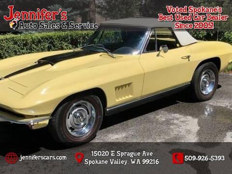 1967 Chevrolet Corvette for sale at Jennifer's Auto Sales in Spokane Valley WA