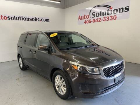 2015 Kia Sedona for sale at Auto Solutions in Warr Acres OK