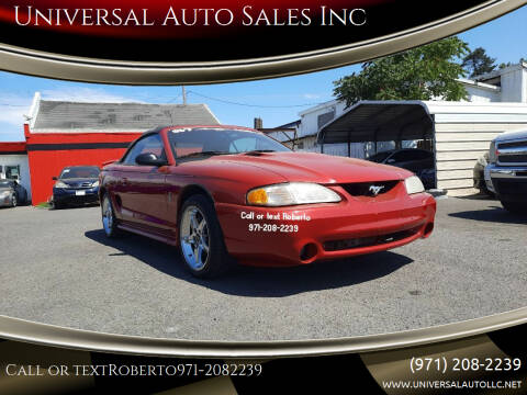 1998 Ford Mustang SVT Cobra for sale at Universal Auto Sales Inc in Salem OR