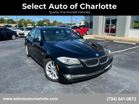 2012 BMW 5 Series for sale at Select Auto of Charlotte in Matthews NC
