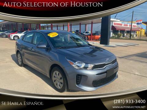 2020 Kia Rio for sale at Auto Selection of Houston in Houston TX