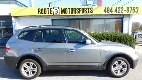 2005 BMW X3 for sale at Route 3 Motors in Broomall PA