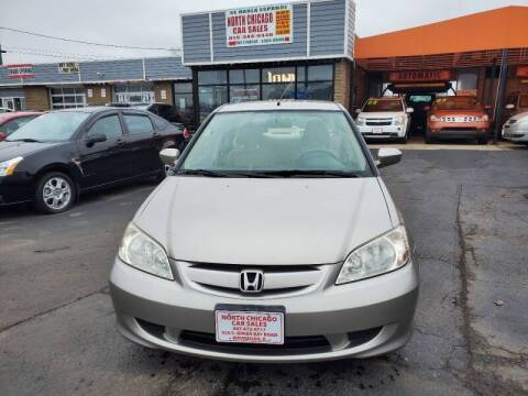 2005 Honda Civic for sale at North Chicago Car Sales Inc in Waukegan IL