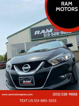 2016 Nissan Maxima for sale at RAM MOTORS in Cincinnati OH