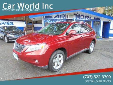 2010 Lexus RX 350 for sale at Car World Inc in Arlington VA