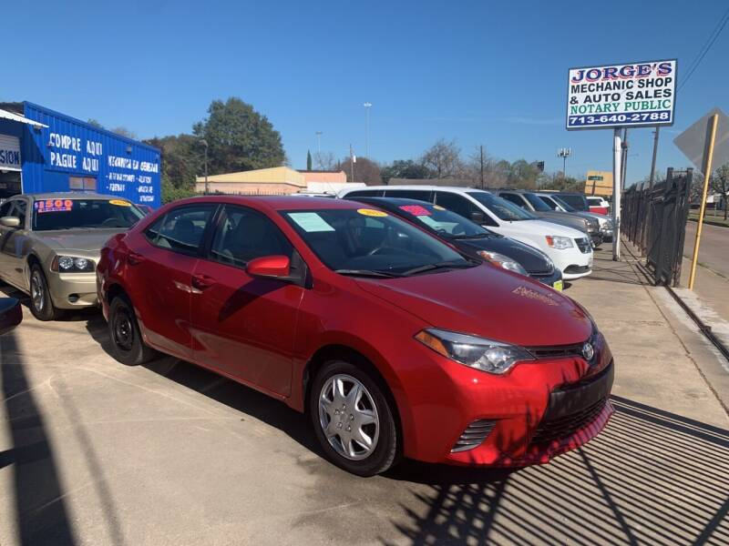 2015 Toyota Corolla for sale at JORGE'S MECHANIC SHOP & AUTO SALES in Houston TX