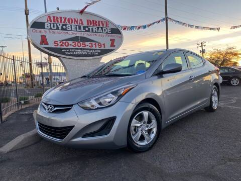 2014 Hyundai Elantra for sale at Arizona Drive LLC in Tucson AZ