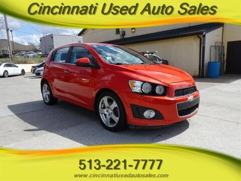 2012 Chevrolet Sonic for sale at Cincinnati Used Auto Sales in Cincinnati OH