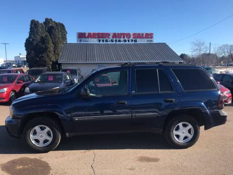 2003 Chevrolet TrailBlazer for sale at BLAESER AUTO LLC in Chippewa Falls WI