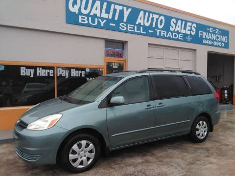 2004 Toyota Sienna for sale at QUALITY AUTO SALES OF FLORIDA in New Port Richey FL