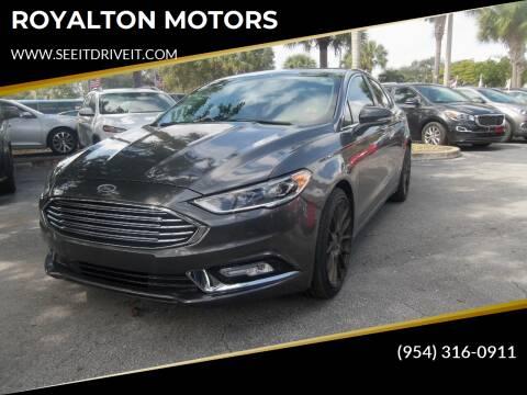 2017 Ford Fusion for sale at ROYALTON MOTORS in Plantation FL