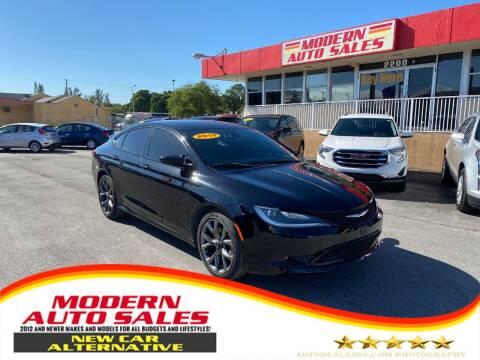 2015 Chrysler 200 for sale at Modern Auto Sales in Hollywood FL