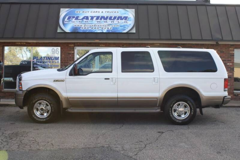 2005 Ford Excursion for sale at Platinum Auto World in Fredericksburg VA