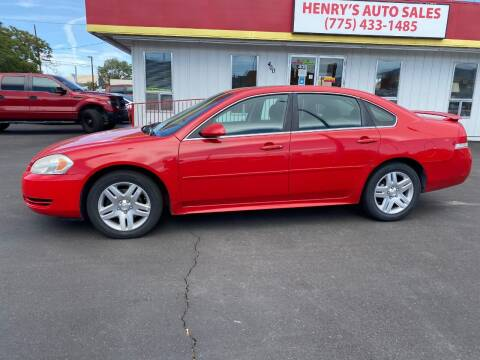 2013 Chevrolet Impala for sale at Henry's Autosales, LLC in Reno NV