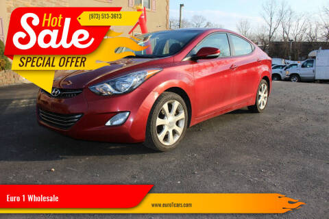 2012 Hyundai Elantra for sale at Euro 1 Wholesale in Fords NJ