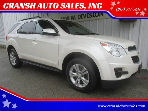 2014 Chevrolet Equinox for sale at CRANSH AUTO SALES, INC in Arlington TX